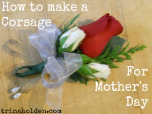 Wired Ribbon Mothers Day Corsage
